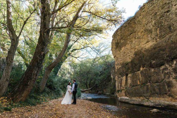 Reportaje de fotos de boda en otoño